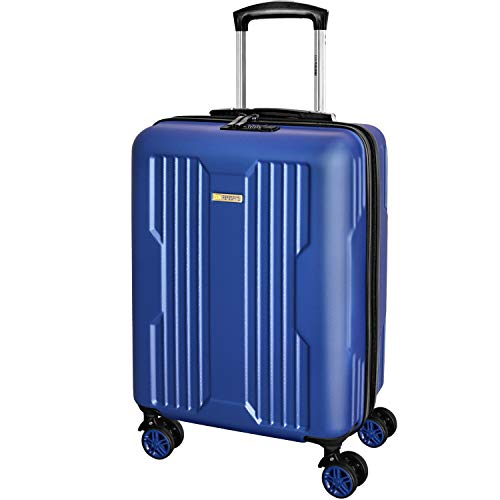 DONPEREGRINO Carry On Cabin Suitcase 55x40x20 with 4 Smooth Double Wheels, Lightweight Combination Lock Hand Luggage Suitcases