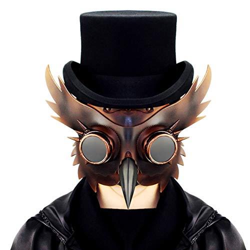 Doctor de la peste Máscara Medieval Steampunk Máscara de disfraces de Halloween Disfraz de Cosplay