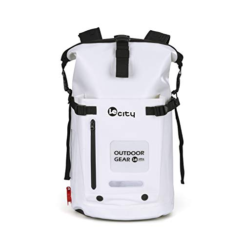 (ビロシー)VILOCYリュック 完全防水 25L 45L 大容量 ロールトップ バックパック リュックサック ドライバッグ アウトドア 登山 ダイビング (白45L)