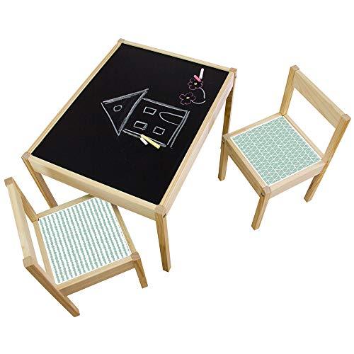 Limmaland Kreidefolie Ideenreich passend für deinen IKEA LÄTT Kindertisch (Farbe Mint) - Möbel Nicht inklusive