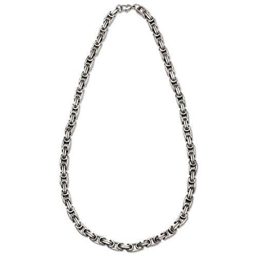 gooix 414–05621–Collana da uomo in acciaio inox, colore: Argento 60cm