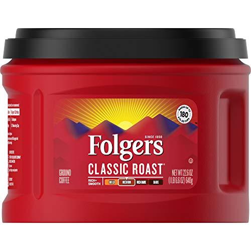 Folgers Classic Roast Coffee, Medium Roast Ground Coffee, 22.6 Ounce, 3 Count