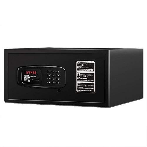 Lsmaa Home Digitale Veilige Elektronische Kast Kluis Cash Box Wandkluis Met Sleutel Voor Huis Slaapzaal Office Home Muur Gemonteerd (Kleur: Zwart, Maat : 42X37X20CM)