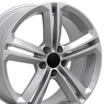 Partsynergy Replacement For 18   Rim Fits 2005-2017 VW Jetta - VW18 Silver 18x8 Aluminum Wheel