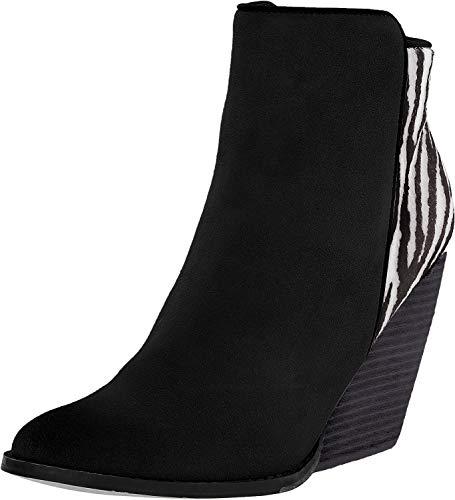 Very Volatile Women's Charla Boot, Black/White/Zebra, 6 B US