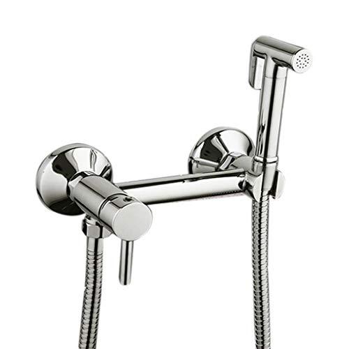 YASE-king Montado en la pared bidé del rociador de la ducha con cabezal de ducha de tuberías Mangueras y ajuste de la válvula