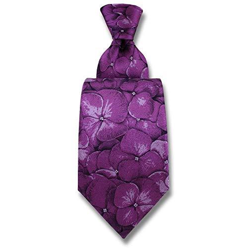 Robert Charles - Cravate Hydrangea Violet