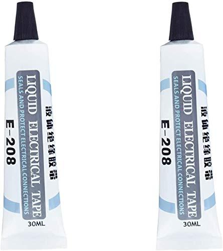 Cinta eléctrica líquida, tubo de 1 onza, pasta aislante, impermeable y sellado...
