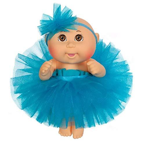 "Cabbage Patch Kids 9"" Dance Time Girl, Brown Eyes, Blue Tutu"