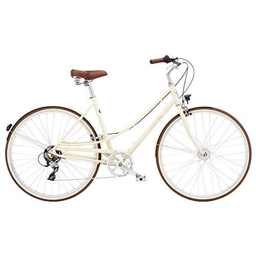ELECTRA Loft 7D EQ 5810 - Bicicleta Urbana para Mujer, 7 velocidades, 28', Color Beige y Crema