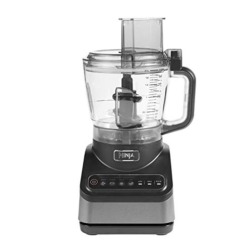 Ninja [BN650EU], Procesador de Alimentos conAuto-iQ, Vaso de 2.1 l, 850 W, 2.1 litros, BPA Free Plastic, 2 Velocidades, Plata