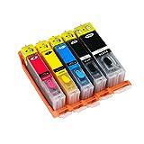 GYBN Los Cartuchos compatibles con la Impresora se Pueden Rellenar, para los Cartuchos rellenados Canon TS8080 MG7780 MG5780 TS5080 TS6080 TS9080 MG6880 870 871-4-set