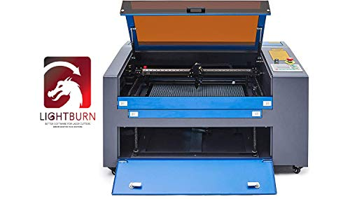 Orion Motor Tech Upgraded 55W CO2 Laser Engraving Cutting Machine, 16 x 24 Inch Work Table Laser Engraver with Digital LCD Real Time Data Power Supply, LightBurn Software for Windows, Mac OSX, Linux