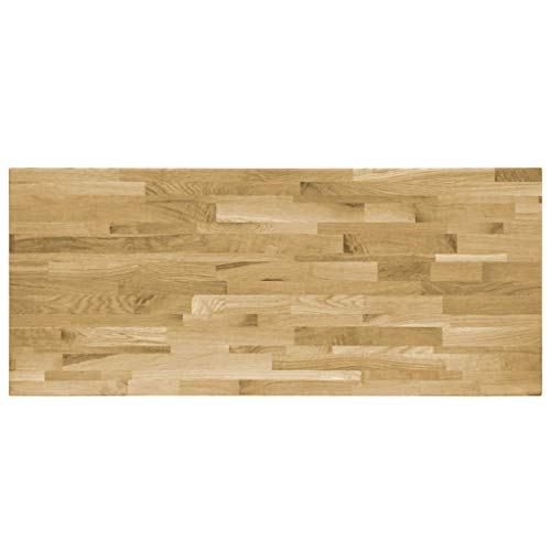 pedkit Schreibtischplatte 140x60cm Tischplatte Schreibtischplatte Rechteckig in Eiche Massiv mit durchgehenden Lamellen Massivholz