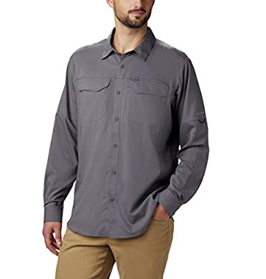 Columbia Men's Silver Ridge Lite Long Sleeve Shirt, City Grey, Large