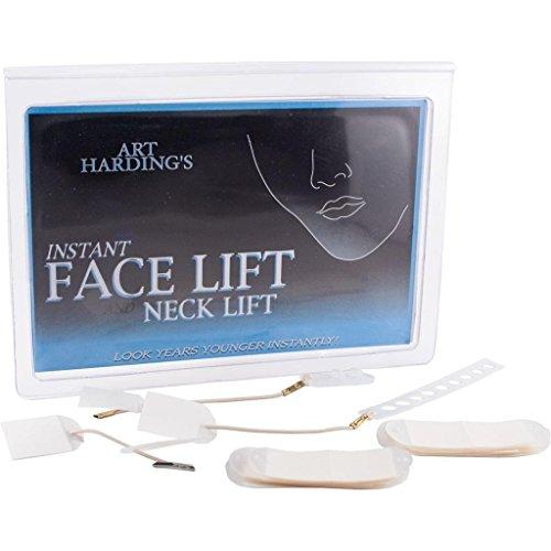 Instant Facelift and Necklift Set, Gesichtsstraffungs-Set mit Bändern, Anti-Aging-Streifen vom Emmy preisgekrönten Visagisten Art Harding, (Set für helles Haar)
