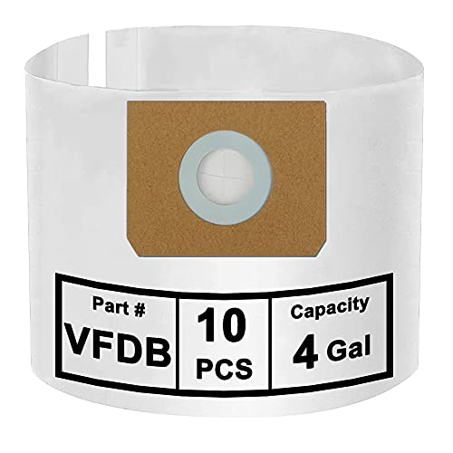 SpaceTent 10 Pack Vacmaster VFDB 4 Gallon Dust Filter Bags, Compatible...