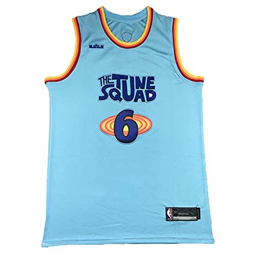 YXST Camiseta de Baloncesto NBA Golpe AéReo # 6 Retro Ropa de Baloncesto,Secado RáPido Y Transpirable para JóVenes Sudadera,RéPlica de Jugador de Baloncesto,Blue2,S