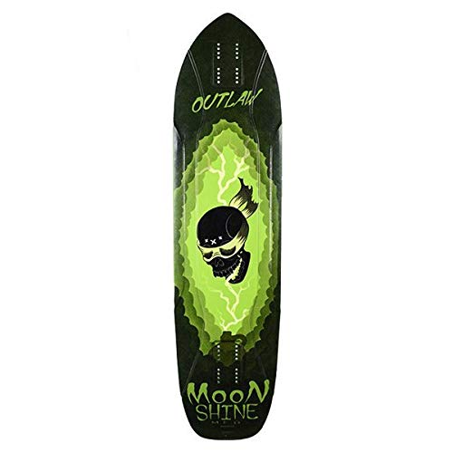 Moonshine Outlaw Black/Green Plateau Longboard