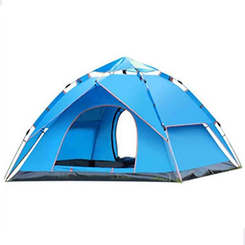 XIUYU Camping Tent, Outdoor Camping Tent Full Automatic Double Layer Anti UV Rain-Proof For Beach Camping Fishing,2To 3 Person