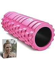 FFEXS Foam Roller - Therapie & Massage voor rug benen kuiten billen dijen - Perfecte zelfmassage voor sport fitness hardlopen - 34cm x 14cm Roze