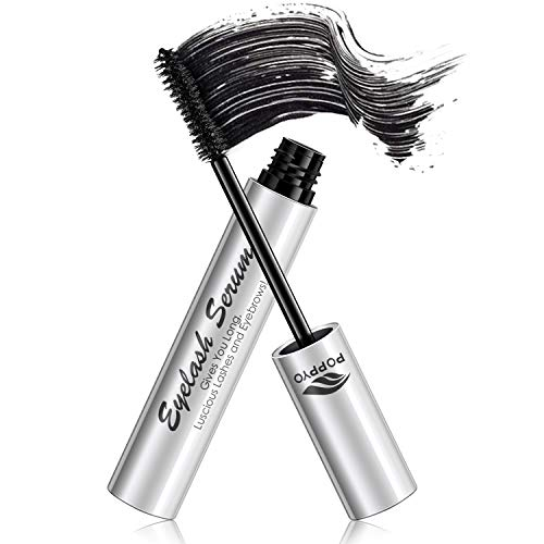 POPPYO Voluminous Mascara, Makeup Lash Volumizing Mascara for Eyelash Thickening, Lengthening, Long Lasting, Waterproof Smudge Proof & Hypoallergenic Ingredients