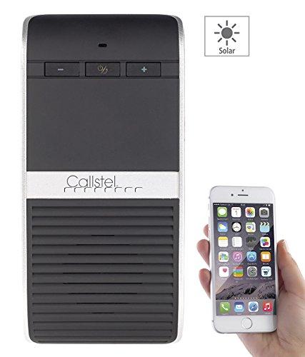 Callstel Freisprech, Bluetooth: Solar-Kfz-Freispechsystem, kabellos, Bluetooth 4.0, Multipoint, DSP (Freisprecheinrichtung Solar)