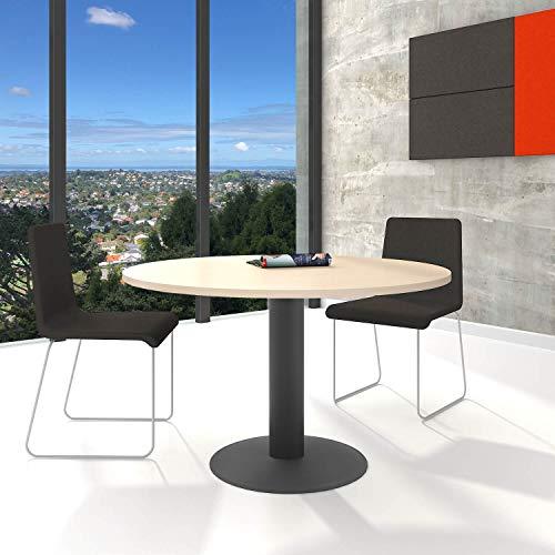 Optima runder Besprechungstisch Esstisch Küchentisch Tisch Ahorn Rund Ø 120 cm