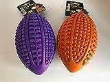 Ballon de rugby en caoutchouc couinant (la couleur peut varier)