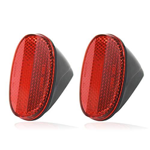 JCstarrie Kotflügel Hinten Reflektor-2 stücke Fahrrad Heckfender Sicherheit Reflektierende Warnung Reflektoren (Rot)