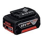 Bosch Professional 1600A002U5 Batterie 18 V 5,0 Ah (Poids: 620 g, Boîte en Carton) Noir/Rouge Norme 1