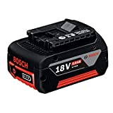 Bosch Professional GBA 18V 5.0Ah Litio, 1 batería x 5.0 Ah, 18 W, 18 V, Negro