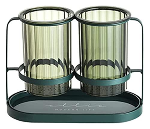 FYRYX Posate for cianfrusaglie di Lusso in Ferro battuto in Ferro Bacchette in Ferro di Scarico Porta Scarico Contenitore for stoviglie forchetta (Color : A)