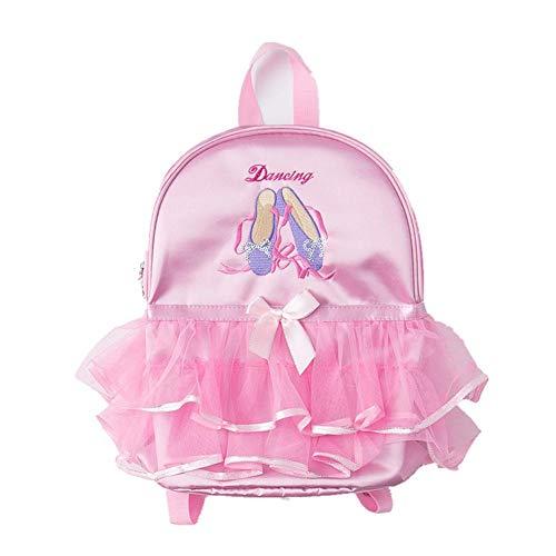 HELLOO HOME Tanztasche Rucksack Rosa Freizeit Mädchen Ballett Kind Schule Rüschen Schultasche für Kind