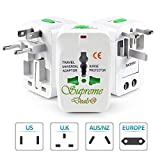 Supreme Deals® Universal Travel Adapter with 125V 6A, 250V Surge/Spike Protected Electrical Plug