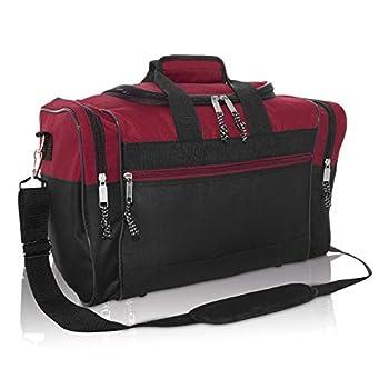 DALIX 17  Blank Duffle Bag Duffel Bag Travel Size Sports Durable Gym Bag  Maroon