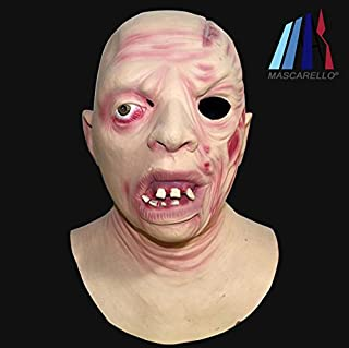 MASCARELLO® JASON VOORHEES David Miller Realistic Latex Mask Bald Headed Zombie Mask Halloween Party Mask Friday The 13th Movie Cosplay Costume Mask