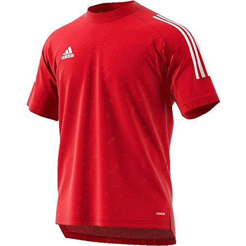 adidas CON20 TR JSY T-Shirt, Hombre, Team Power Red/White, S