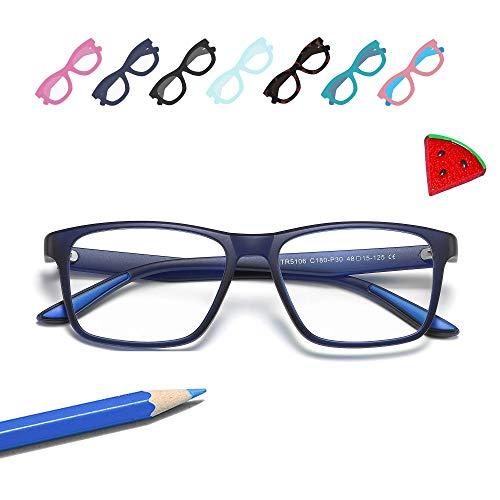 Penbea Kids Blue Light Blocking Glasses - Blue Light Glasses for Kids Girls Boys Age 7-12, Fake Glasses Anti Bluelight Glasses for Kids - Navy