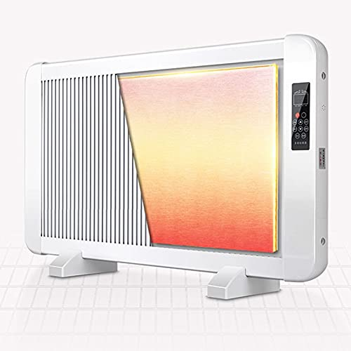 Convector radiador calentador con termostato ajustable 2 Configuración de calor Montado en la pared o pie libre aceite Calentador Libre eléctrico 2000W, Función corte seguridad Pequeño
