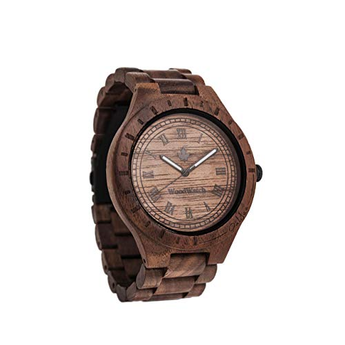 Oaklee | Ufficiale WoodWatch® | Realizzato a mano | Movimento al quarzo giapponese | Orologio resistente e antispruzzo con elegante cassa in legno