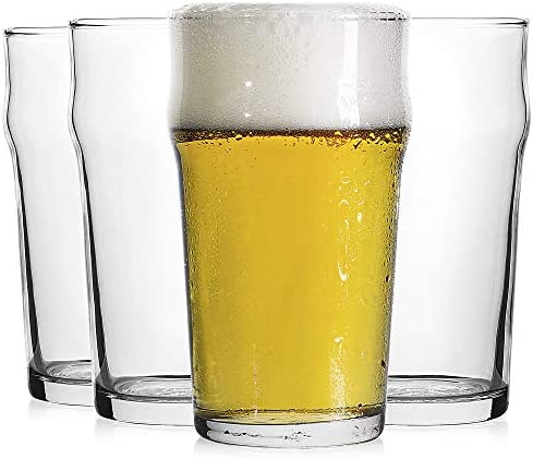 Pint Glass British Style Imperial Beer Glasses Set of 4 English Pub style Ale glassware Unique product image