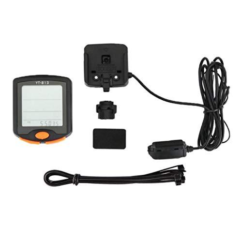 N/A/a Cuentakilómetros con Velocímetro Inalámbrico con Cable para Computadora 24 Función para...