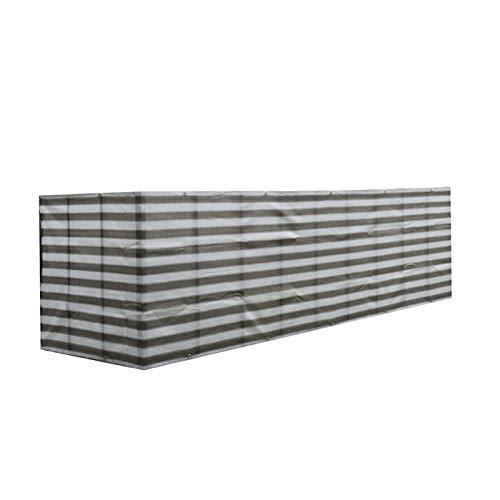 Malla de privacidad para valla de balcón de 5 x 91 cm, con cuerda, protección solar para balcón, jardín, patio, cubierta de porche (gris)