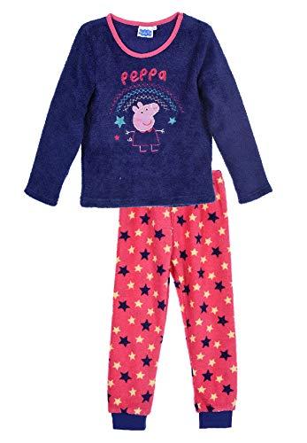 Peppa Wutz Pig Schlafanzug Fleece Pyjama für Kinder, Größe:116