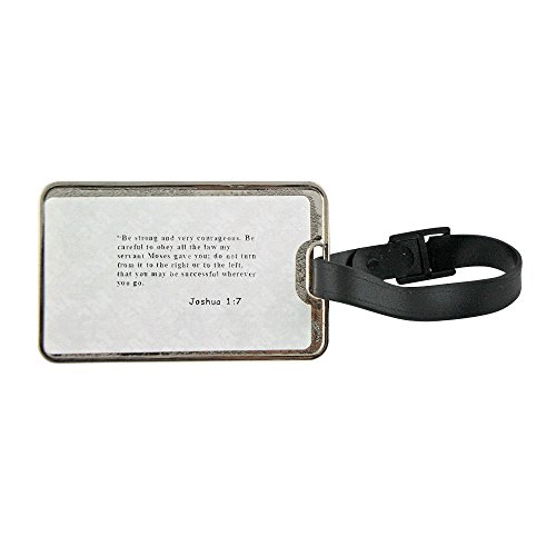 Metal Luggage Tag with Can a Mother Forget The Baby at her...