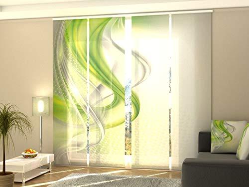 Wellmira - Tenda a Pannello con Stampa Fotografica su Misura, Motivo Decorativo, Gabardine, 4X 245x70 cm
