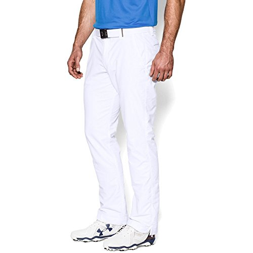 Under Armour Match Play Pantalon de golf Homme Blanc FR : XL (Taille Fabricant : 36/32)