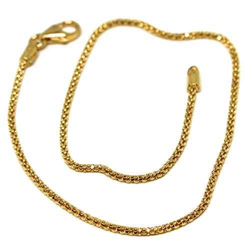 pulsera de Oro Amarillo De 18K 750, cesta, Mini 1mm, 19cm, baloncesto, Fabricado en Italia