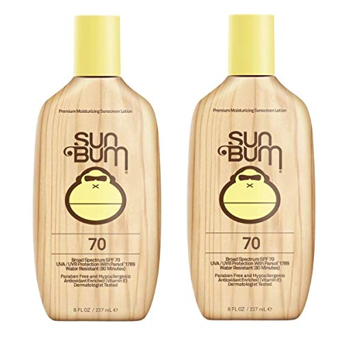 Sun Bum Original Moisturizing Sunscreen Lotion SPF 70 | Vegan and Reef Friendly | Octinoxate & Oxybenzone Free | Broad Spectrum UVA/UVB Sunscreen with Vitamin E | 8 oz | Pack of 2